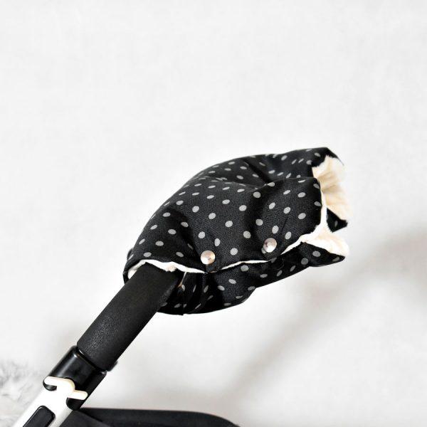 mufka na rączkę wózka winter dots zimowe kropki