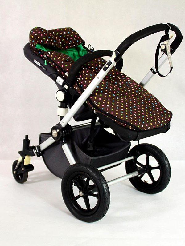 Śpiworek do wózka spacerowego Colorful Dots