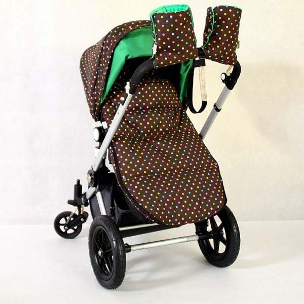 mufka na rączkę wózka colorful dots kolorowe kropki