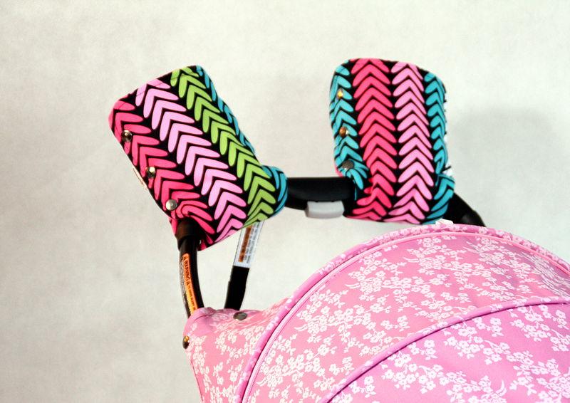 mufka na rączkę wózka pink fir różowa jodła
