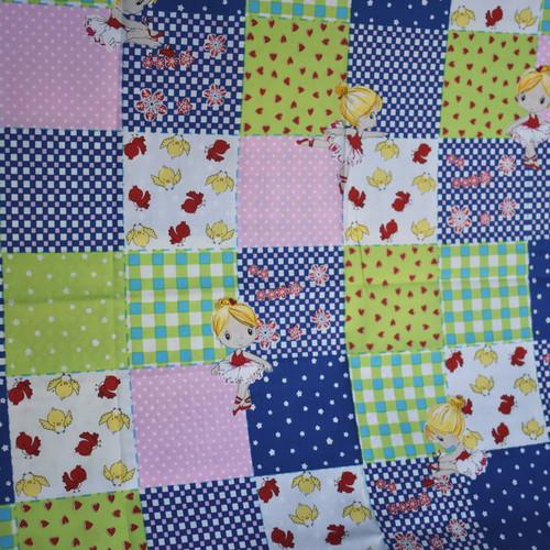 Bawełna - dziewczynki na patchworku