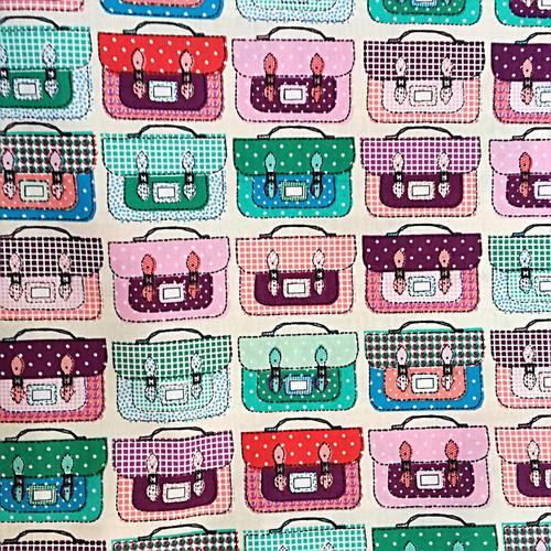 Bawełna - kolorowe teczki na ecru
