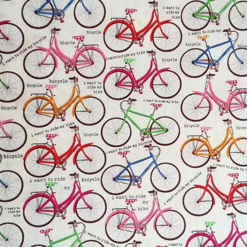 Bawełna - kolorowe rowery