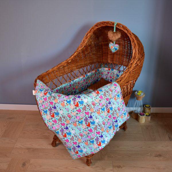 Kocyk niemowlęcy Beauty Hen Piękne Kury