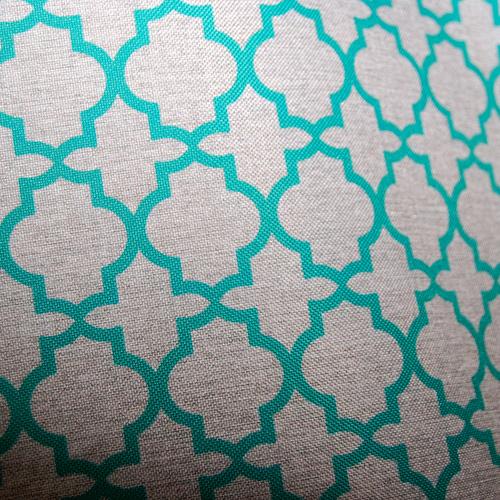 Poliester - zielona koniczyna marokańska na szarym tle