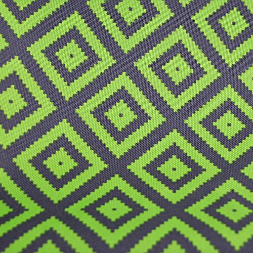 Poliester - zielone znaczki na szarym tle