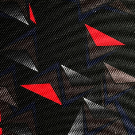 Poliester - Trójkąty na czarnym tle