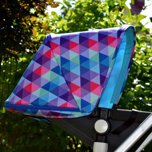 budka przedłużana bugaboo cameleon kolorowe trójkąty