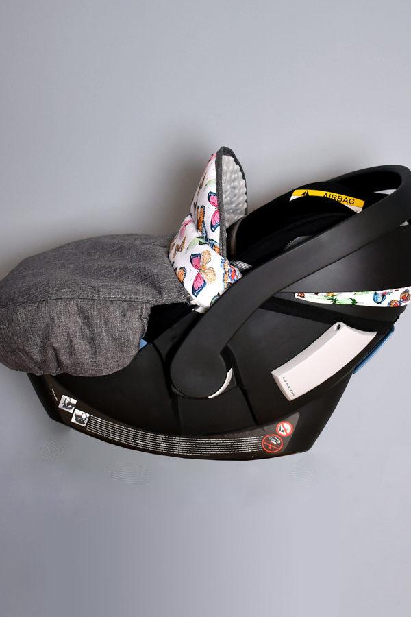 osłonka na nóżki do fotelika cybex aton 5 motyle