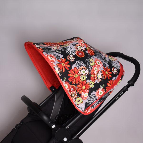 Budka do wózka Cybex Balios M Czerwone Kwiaty