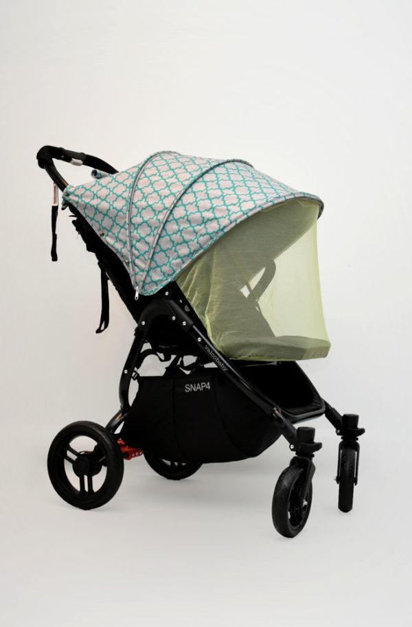 budka do wózka valco snap zielona koniczyna marokańska