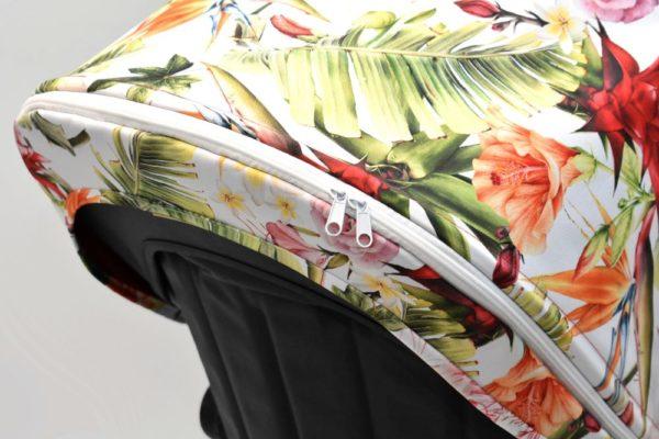 budka przedłużana bugaboo cameleon palmy i kwiaty