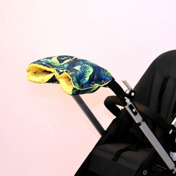 mufka na rączkę wózka palmowe liście palm leaves