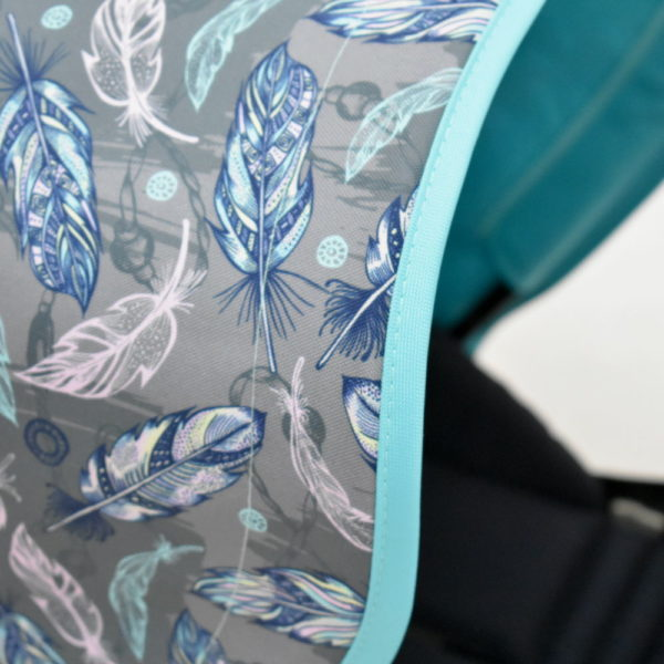 budka przedłużana bugaboo bee5 niebieskie pióra