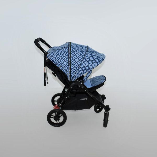 budka przedłużana do wózka valco snap niebieske znaki blue stemps