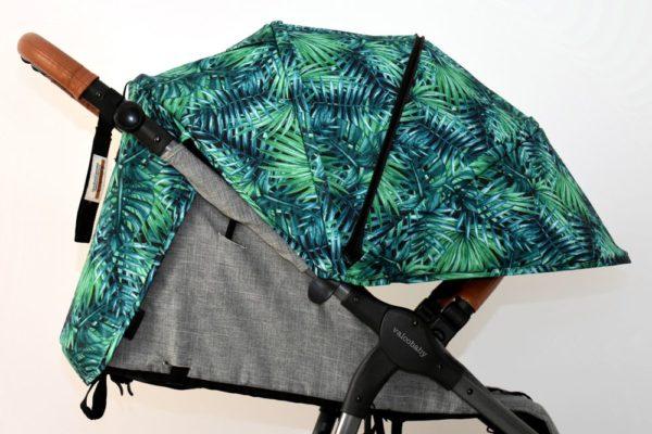 budka do wózka valco snap trend tropikalne liście tropical leaves