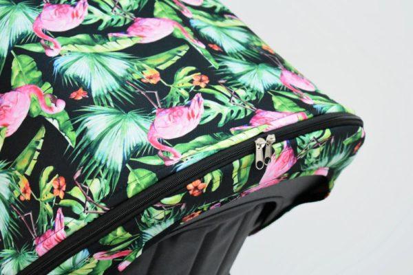 budka przedłużana bugaboo cameleon flamingi na palmach