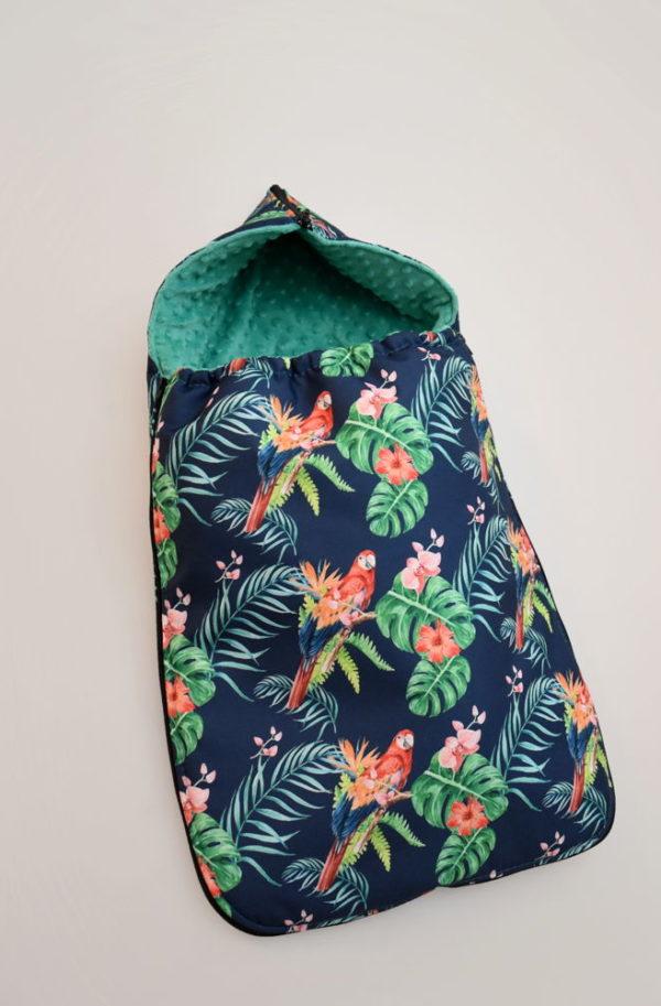 śpiworek do gondoli i nosidełka tropical parrots